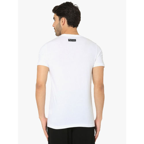 Puma One8 Vk White Round Neck T-Shirt