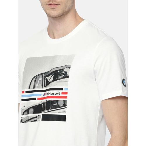 Puma Men White BMW MMS Printed T-shirt