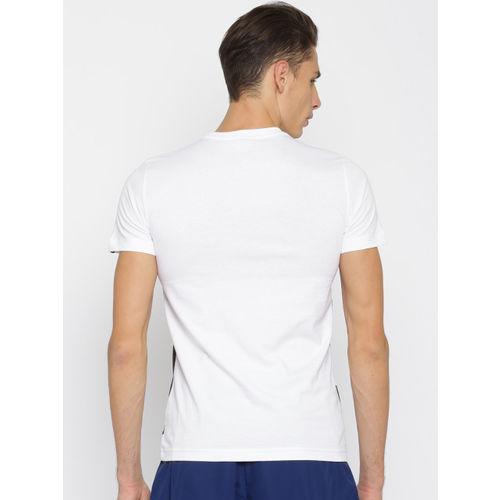 Puma Men White Printed Round Neck Sneakers Photo T-shirt