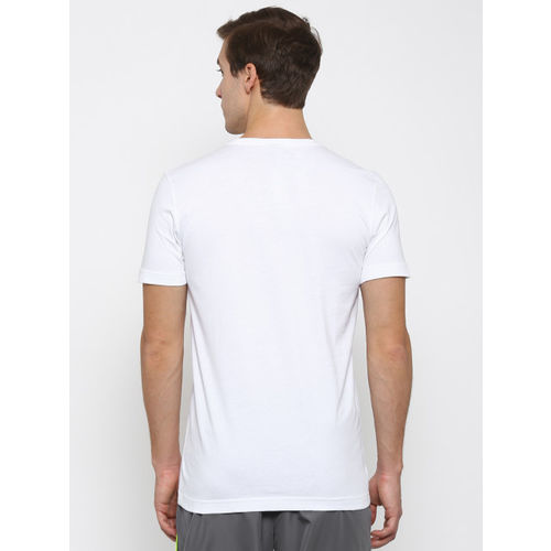 Puma Men White Dynamo Printed Slim Fit T-shirt