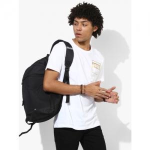 5eeddc141c Buy Mufti Men Orange & White Ombre-Dyed Henley Neck T-Shirt online ...
