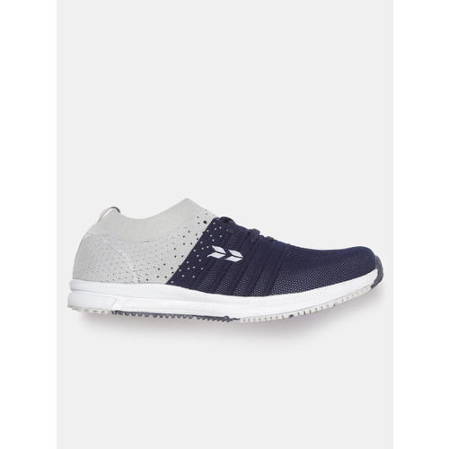 Crew STREET Women Navy Blue & Grey Colourblocked Running Shoes
