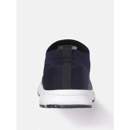 Crew STREET Women Charcoal Grey & Navy Colourblocked Running Shoes