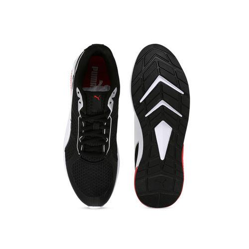 Puma Unisex Black & White Running Shoes