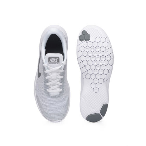 Nike Women Grey & Off-White FLEX EXPERIENCE RN 7 Running Shoes