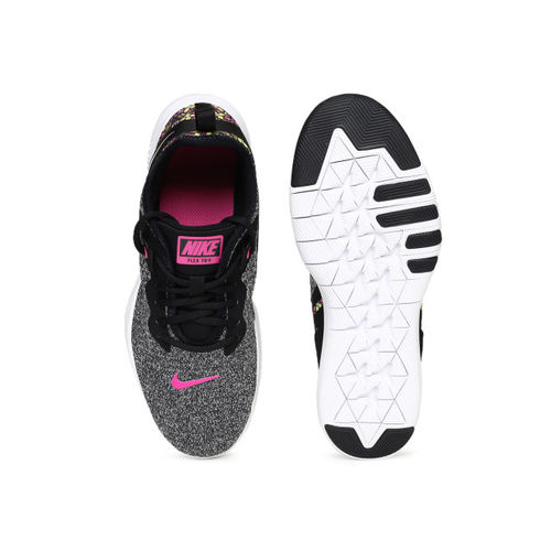 Nike Women Black & White FLEX 9 PRNT Training Shoes