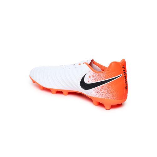 Nike Unisex White & Orange LEGEND 7 CLUB FG Football Shoes