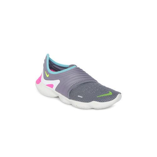 Nike Women Grey FREE RN FLYKNIT 3.0 Running Shoes