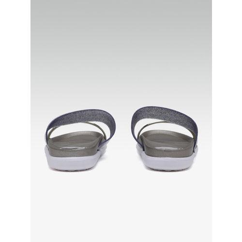 Carlton London Women Silver-Toned Solid Open Toe Flats
