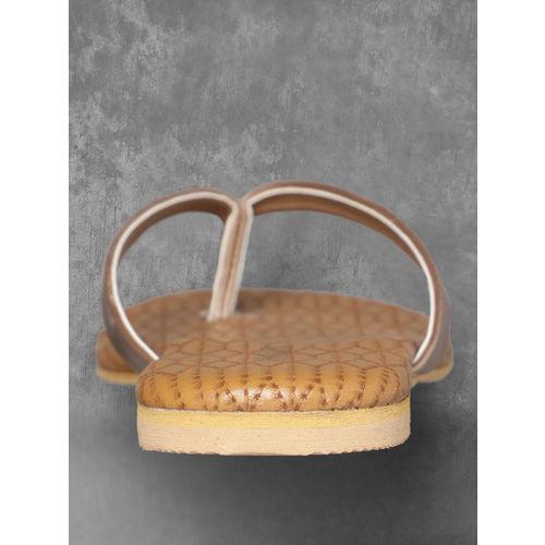 Anouk Women Brown Solid Open Toe Flats