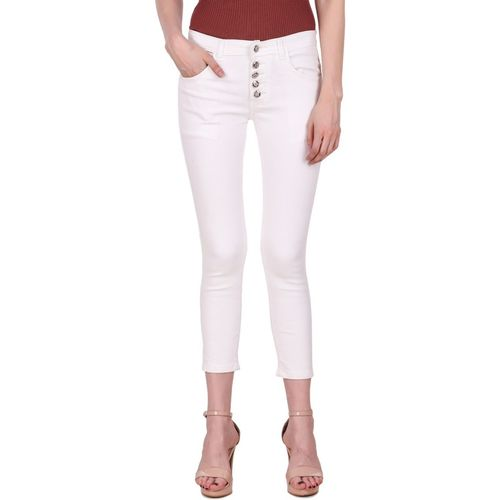 Ansh Fashion Wear Regular Women White Jeans