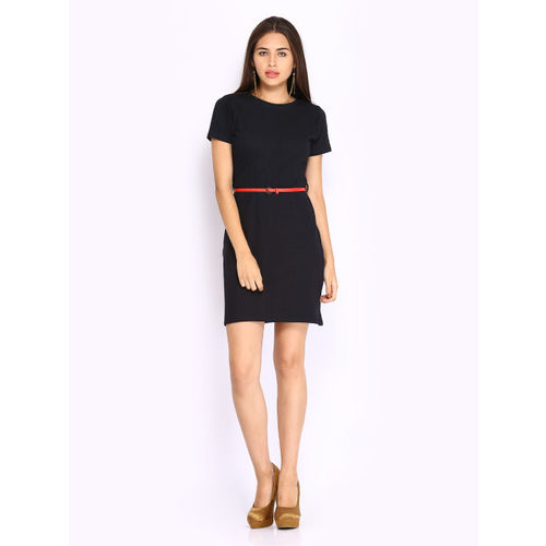 Miss Chase Black Belted Dress