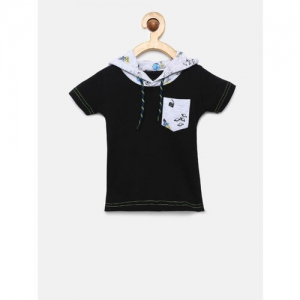 Gini and Jony Girls Black Solid Top