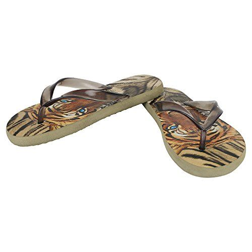 Aerodix Men's Lion Flip-Flops and House Slippers