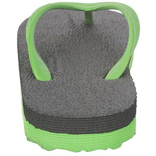 Ortho + Rest Unisex's Black and Green Flip-Flops-6 UK/India (Men 39 (Women 38 EU) (R999BLACKGREEN_6)