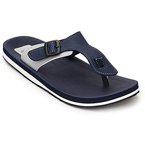 ADDA Stylish & Comfortable Flipflops/Slippers for Men (Navy/Grey)