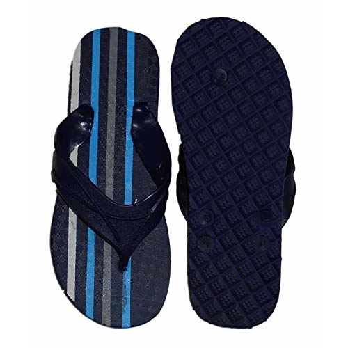 CHARAN COLLECTIONS Blue Hawai Slippers | House Slippers | Outdoor Slippers| Beach Slippers | Men's and Women's Flip Flops (Random Colours)