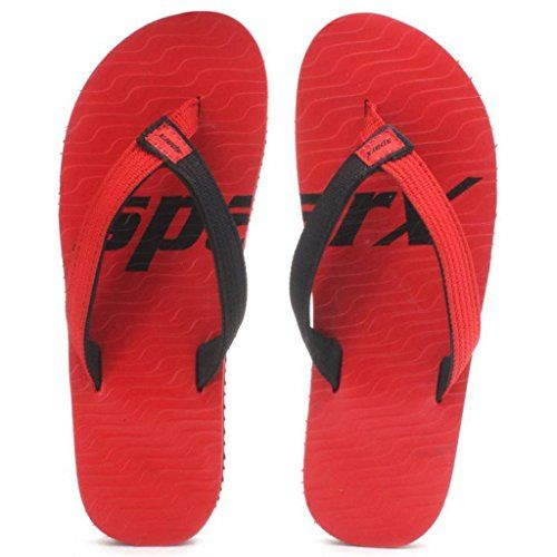 Sparx Boy's Red & Black Flip Flops and House Slippers (SFU-204)