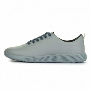 D-SNEAKERZ Grey Synthetic Leather Lace Up Sneakers