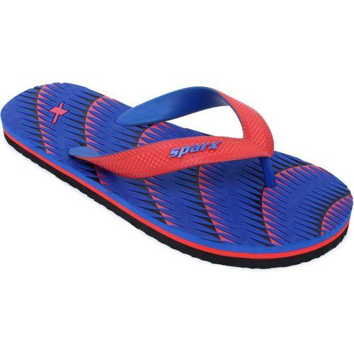 Sparx Men SFG-2084 Royal Blue Red Flip Flops