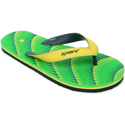 Sparx Men SFG-2084 Fluorescent Green Yellow Flip Flops