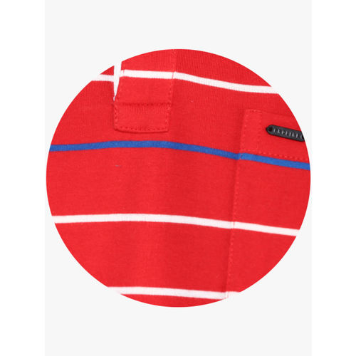 Proline Red Striped Regular Fit Polo T-Shirt