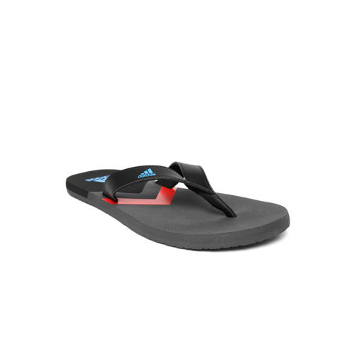 ADIDAS Men Black EEZAY Printed Thong Flip-Flops