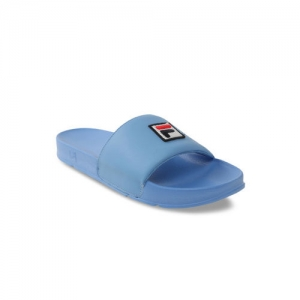 FILA Men Blue Solid Sliders
