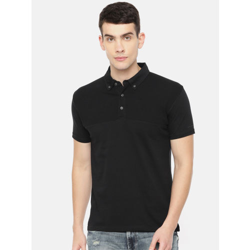 Pepe Jeans Men Black Soldi Polo Collar T-shirt