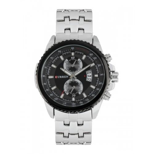 Curren Analogue Black Dial Watch - CUR021