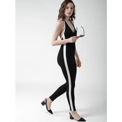 FOREVER 21 Black Solid Basic Jumpsuit