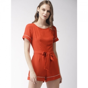 FOREVER 21 Rust Orange Solid Playsuit