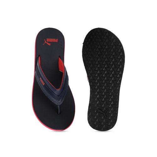 Puma Men Navy Blue Solid Slip-Ons