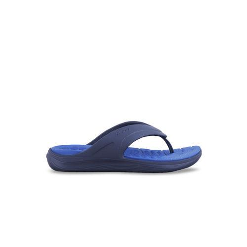Crocs Reviva Unisex Navy Blue Solid Thong Flip-Flops