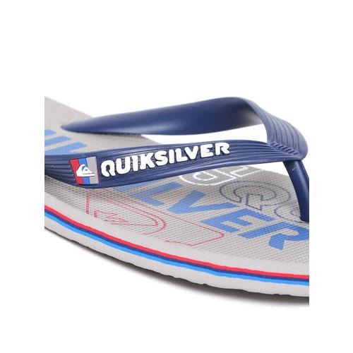 Quiksilver Men Navy Blue & Grey Printed Flip-Flops