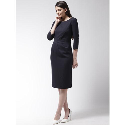 Marks & Spencer Women Navy Blue Solid Sheath Dress