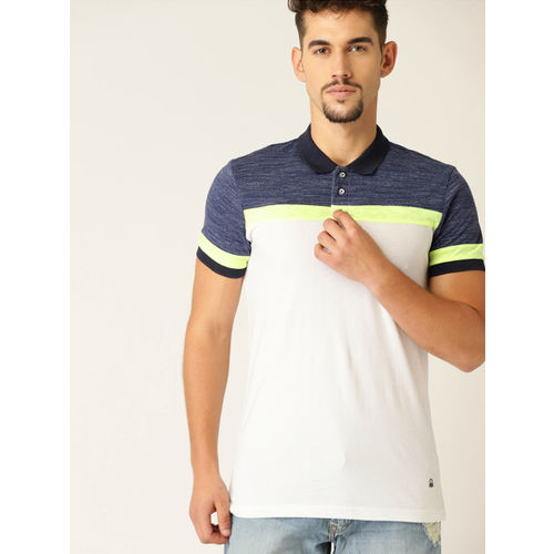 United Colors of Benetton Men White Solid Round Neck T-shirt