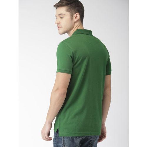 Levis Men Green Solid Polo Collar T-shirt