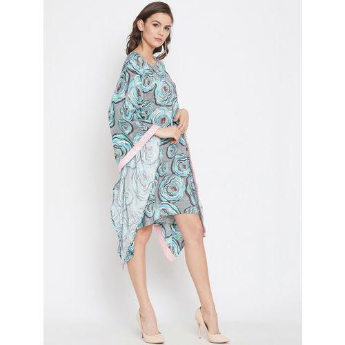The Kaftan Company Women Blue & Grey Kaftan Dress