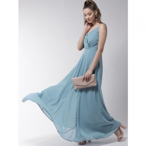 20Dresses Women Blue Solid Maxi Dress