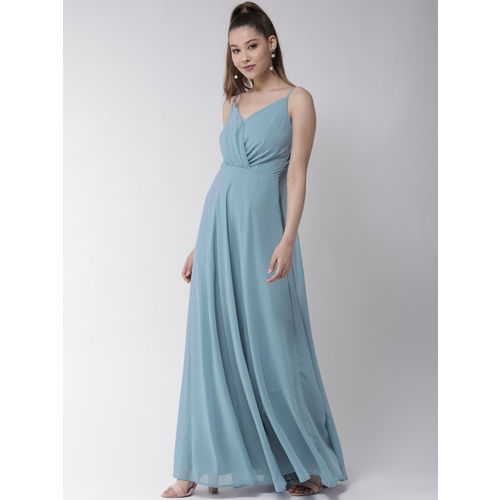 20Dresses Women Blue Solid Maxi Dress
