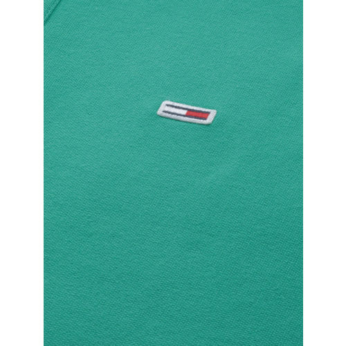 Tommy Hilfiger Men Green Solid Polo Collar T-shirt