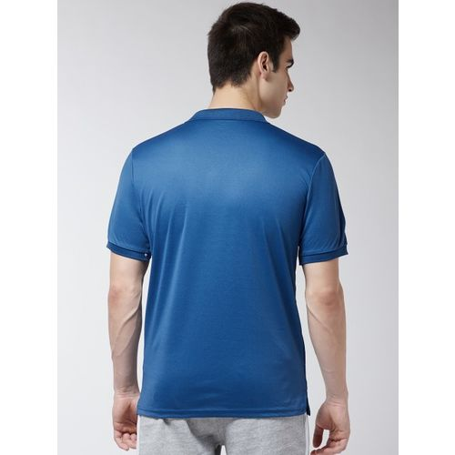 Alcis Men Blue Printed Polo Collar Training T-shirt