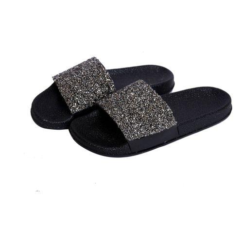 Hush Berry Sparkle Stone Flip Flops/Slippers for Girls/Women Slides