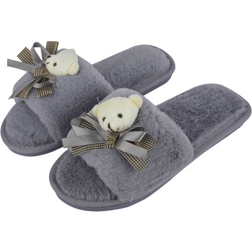 IRSOE Latest and Comfortable Indoor/Outdoor Soft bottom Slippers |Womens Flipflop |Womens Fancy Slippers |Girls Slippers flip Flop Grey Slippers