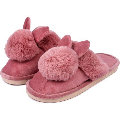 Brauch Pink Fur Bunny Winter Slides