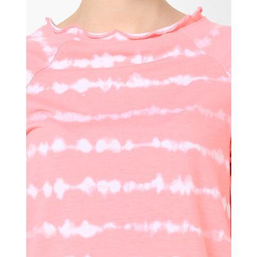 AJIO Tie & Dye Top with Raglan Sleeves