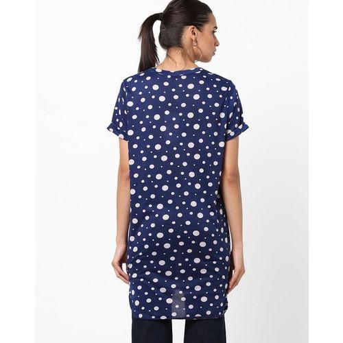 Marca Disati High-Low Polka Dot Print Tunic