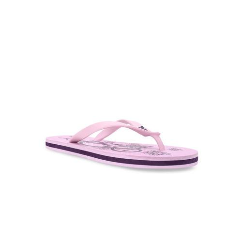 Puma Women Pink Printed Lily GU IDP Pale Pink-Indigo Thong Flip-Flops