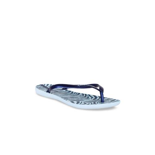 iPanema Women Blue Printed Thong Flip-Flops